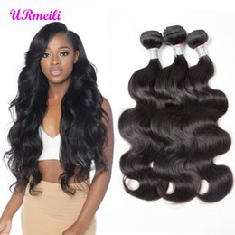 Discount cheap 16 inch human hair weave Indian Body Wave Human Hair Extensions 8-32 Inches Indian Remy Hair Color 1B Can Be Dye cheap human hair weave 3 4 bundl