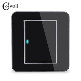 $enCountryForm.capitalKeyWord Australia - Wall Light Switch Coswall Brand 1 Gang 1 Way Random Click Push Button With LED Indicator Acrylic Crystal Panel