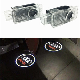 a3 car Australia - For Audi Car door Light Ghost Shadow Welcome Laser Projector Lights LED Car Door Logo For Audi A1 A3 A5 Q3 Q5