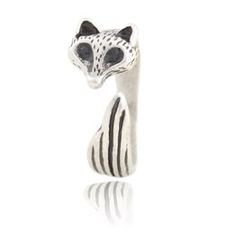 cd47b9c91b New Arrival Vintage Silver Adjustable Cute Animal Fox Ring Simple Mid  Finger Couple Wedding Rings For Women Gilrs Kids Party Gift Bulk