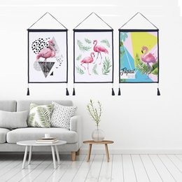 $enCountryForm.capitalKeyWord Australia - Decor Wall Scroll Hanging Tapestry Fashion Flamingo Hanging Painting,Sofa Background Hanging Cloth,Corridor,Porch,Electric Meter Box