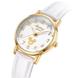 girl watch simple Australia - Brand Original Womens Watches Mouse Quartz Water Resistant Girls Watches Fashion Casual Simple Students Watch