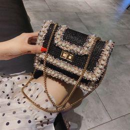 $enCountryForm.capitalKeyWord Australia - Bag 2019 Summer Women's Designer Handbag Sweet Flip Small Square Fashion New Quality Pearl Lock Chain Shoulder Crossbody Bags