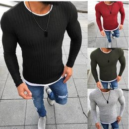 Discount fake clothes - Mens Fake Two Pieces Sweater Fashion Solid Long Sleeve Pullover Tops Autumn Casual Round Neck Knitting Male Sweater Clot
