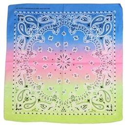$enCountryForm.capitalKeyWord Australia - Womens Square Ribbon Shawl Gradient Color Headscarf Printed Neckerchief Headdress Scarf Head Wrap