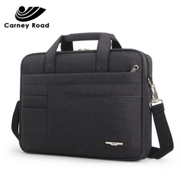 nylon briefcases men UK - Brand Waterproof Men Women 14 15.6 Inch Laptop Briefcase Business Handbag For Men Large Capacity Messenger Shoulder Bag MX190719