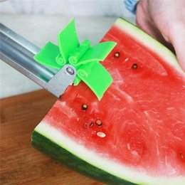 StainleSS Steel tongS online shopping - Watermelon Slicer Stainless Steel Knife Corer Tongs Windmill Melon and Cantaloupe Fruit Slice Cutter Cutting Fruit Vegetable Tools DHL Free