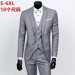 Purple Business Suit Australia - The new spring 2019 high quality business and leisure suit three-piece suit the groom's best man wedding