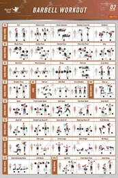 $enCountryForm.capitalKeyWord Australia - Barbell Workout Exercise Poster BodyBuilding Guide Fitness Gym Chart SILK POSTER Decorative painting 24x36inch