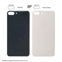 iphone hole back NZ - New Easy change Back Cover Glass Rear Housing For iPhone X 8 plus 8P Battery Door Body Adhesive replacement With Big hole 20Pcs