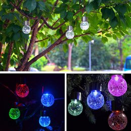 led garden ball Australia - Solar Powered Color Changing outdoor led light ball Crackle Glass LED Light Hang Garden Lawn Lamp Yard Decorate Lamp 3123