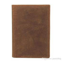 $enCountryForm.capitalKeyWord Australia - New Leather Passport clip passport bag Mad Horse skin retro boarding card, leather jacket, skinned passport bag