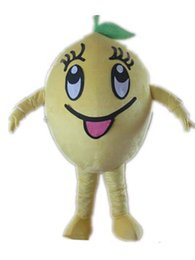 $enCountryForm.capitalKeyWord Australia - 2019 Discount factory sale yellow lemon mascot costume with big smile for adult to wear
