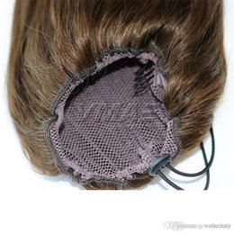 "human hair straight drawstring ponytail Australia - Straight Human Ponytail 120g #1B #4 #6 Virgin Human Horsetail 16"" to 24"" Drawstring Clip in Ponytails VMAE HAIR"