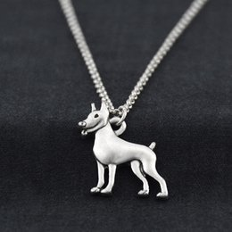 $enCountryForm.capitalKeyWord Australia - Vintage Miniature Pinscher Pendant Stainless Steel Chain Necklaces Colar Boho Dog Charms Pendants For Women Men Best Gift Accesorios Mujer