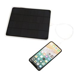 Cell Phone Charger Ports Australia - 12V 10W 600mA Solar Panel Battery Charger Portable SunPower USB DC Port Ultra-Thin Portable Outdoor Solar Panel Charger for Mobile Phone All