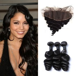 $enCountryForm.capitalKeyWord Australia - Factory Price Human Hair Bundles With Lace Frontal Closure Loose Wave Hair Hidden Knots 8-24inch Can Be Dyed LaurieJ Hair