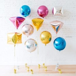 24 inch balloons online shopping - 20pcs inch Rose Gold D diamond Cube Shaped Helium Ball Solid Foil Balloons Party Wedding Birthday Party New Year Decor SH190913
