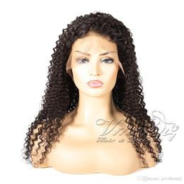 Full Cuticle Virgin Human Hair Australia - Indian 1b Natural Black Raw Virgin Cuticle Aligned Kinky Curly Full Lace Wig Human Hair Wigs For Black Women