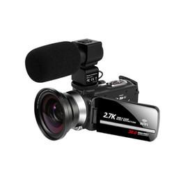 Caméra vidéo WIFI 2.7 K Vlogging caméscope pour l'écran tactile de Youbute 30mp 16x Digital Zoom Handycam Enregistreur Bruit Annulation du bruit en Solde
