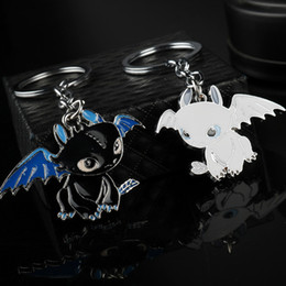 cartoon train cars NZ - How To Train Your Toothless Keychain For Women Girls Stainless Steel Night Fury Dragons Pendant Car Key Ring Jewelry