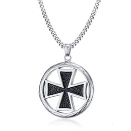 $enCountryForm.capitalKeyWord Australia - Steel Gold Silver Color Fashion Men's Cross Pendant Necklace Stainless Steel Link Chain Necklace Jewelry Gift for Men Boys J794