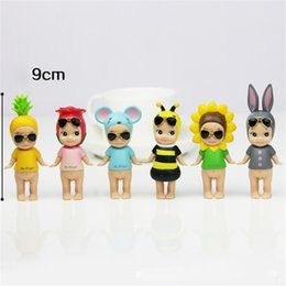 sonny angels wholesale Australia - 1 set (6 PCS) 9cm Sonny Angel Animal Plant Baby Action Figure Original Limited Edition Gift for Baby Kids Cute Kawaii Action Figure toys
