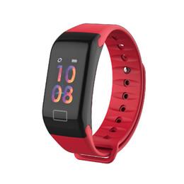 French Bracelets UK - F1 Plus Color Lcd Screen Fitness Tracker Sleep Tracker Smart Bracelet Heart Rate Monitor Waterproof Smart Watch Activity Tracker