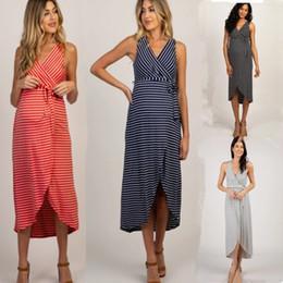 Großhandel Neue Ankunft Umstandskleider Umstandsmode Schwangerschaftskleid Schwangeres Kleid Lässig Feste Schwangerschaftskleider Bequemes Sommerkleid