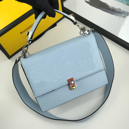 $enCountryForm.capitalKeyWord Australia - light blue color elegant genuine leather with simple style and silver button lady shoulder bags handbag square cross body bags medium size