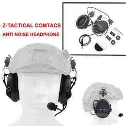 Z Tactical Sordin Headset Noise Canceling Earphone With FAST Helmet Rail Adapter Set For Mi litary Airsoft Hunting Headphone Z034 from plextone earphones suppliers