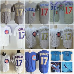 Wholesale Mens KrisBryant San Diego Toreros baseball Jersey Chicago Kris Blue Grey whit gold All Stitched S XL