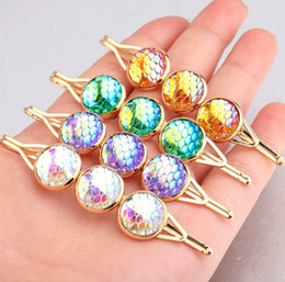 $enCountryForm.capitalKeyWord Australia - New Design Bridal Hair Jewelry Charm Gold Plated Crystal druzy Hair Clips Hairpin Wedding Hair Accessories For Women gift Wholesale