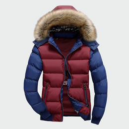 blue mens winter parka NZ - Winter Men's Thick Coats Warm Male Jackets Padded Casual Hooded Thermal Parkas New Men Overcoats Mens Brand Clothing M-4XL ML061