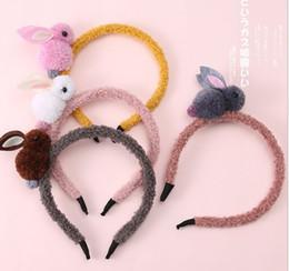 $enCountryForm.capitalKeyWord Australia - New Kids Cute Rabbit Headbands Hairband Headwraps Animals Hairpins Plush Rabbit Ears Hair Clips for Girls Hair Accessorie hot
