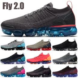 Pink knit fabric online shopping - 2019 New Fly Running Shoes Men Women Thunder Grey Reverse Orca BHM Oreo Knit Designer Shoes Sports Sneakers US