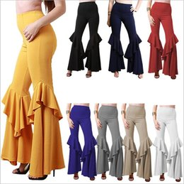 wide leg yoga pants UK - Pleated Pants Women High Waist Wide Leg Pants Dance Bloomers Yoga Fitness Capris Casual Fashion Harem Pants Hot Loose Palazzo Trousers A3972