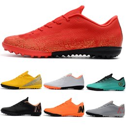 Futsal Shoes Australia - 2019 New Mens Low Ankle Football Boots Futsal Mercurial VaporX VII Pro IC TF Outdoor Shoes Neymar SuperflyX CR7 Indoor Turf Soccer