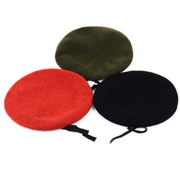 Discount soldier hats - Men and Women Pure Wool Beret Hat For Special Forces Soldiers Death Squads Training Camp Hats