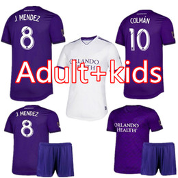 f62c1405b5e man kids kit 2020 MLS Club Orlando City home Soccer Jerseys 19 20  10  COLMAN  8 J. MENDEZ soccer Shirt DWYER NANI Football Uniform