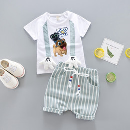 new fashion shirt girl white 2019 - 2019 new Baby Boys Clothes Sets Spring Summer Fashion T-shirt + Shorts Newborn children Girl Clothing Kids Suits discoun