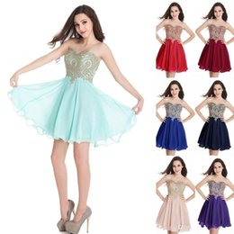 Wholesale sexy stockings wear resale online - Cheap In Stock Homecoming Dresses Short Occasion Dress Sweetheart A Line Mini Cocktail Party Prom Gowns CPS406