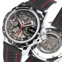 Watches Luxury Skeleton Man Australia - Unique Skeleton Dial Automatic Mechanical Watch for Men Silicone Strap Watches for Male Luxury Automatic Watch Friends