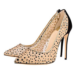 e44c2d795004 designer shoes 2019 new fashion shoes pointed toes rhinestone high heel  slip on women pumps patchwork chic stiletto heel wedding shoes