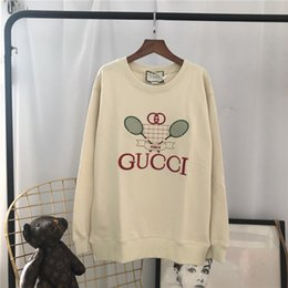 $enCountryForm.capitalKeyWord UK - 19ss New luxurious brand design tennis racket embroidery Sweater hoodie Men Women Fashion casual Streetwear Sweatshirts Outdoor shirts 000