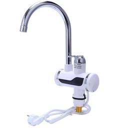 Kitchen Faucet Heated Australia - Eu Plug Electric Kitchen Water Heater Tap Instant Hot Water Faucet Heater Cold Heating Faucet Tankless Instantaneous Hea