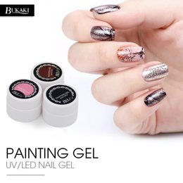acrylic paint gel nails Australia - BUKAKI 8ml Painting Gel Polish Semi Permanent Bio Acrylic Nails Drawing UV Gel Nail Polish DIY Nail Art Lacquer