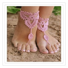 nude beach jewelry 2020 - Wedding Jewelry Crochet Wedding Barefoot Sandals Beach Pool Nude Shoes Yoga Chains Foot Anklets Bridal Lace Shoes Sexy A
