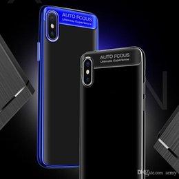 Vente en gros Couverture automatique de cas antichoc combinée brillante d'électroplated de tpu de focalisation automatique pour Iphone 6 7 8 plus et Iphone X