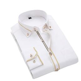 $enCountryForm.capitalKeyWord Australia - Jeetoo 2019 Men's Solid Slim Casual Wedding Shirt Business Long Sleeve Men Dress Blouses Work Wear Formal Male Tuxedo Plus Size T2190601